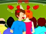 World Cup Cricket Kiss