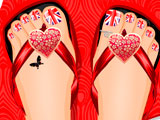 Flag Toe Nail Designs