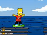 Bart Simpson Skateboarding 2