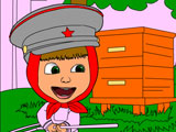 Masha and Bear catch bees