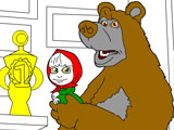 Paint Masha and Bear