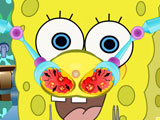 SpongeBob treats runny nose