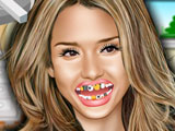 Jessica Alba at the Dentist