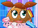 Messy Pou Girl