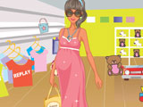 Pregnant Mom Shopping Dress Up