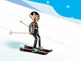 Mr Bean Skiing