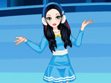 Teen Snow White Ice Skating