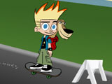 Johnny Test Street Skate Race