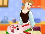 Cinderella Cooking Bunny Cake