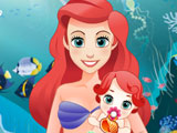 Mermaid Ariel Gives Birth To a Baby