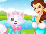 Princess Belle's Kitten Caring