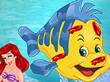 Ariels Flounder Injured
