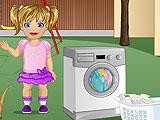 Baby Emma Laundry Time