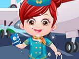Baby Hazel Air Hostess Dressup