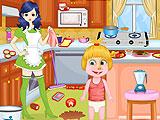 Masha Babysitter Room Cleaning