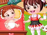 Baby Hazel As Babysitter