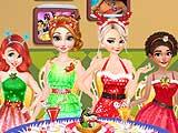 Disney Princesses Christmas Dinner