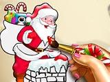 Santa Christmas Coloring