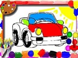 Cartoon Cars Coloring Book