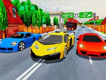 Car Racing in Fast Highway Traffic