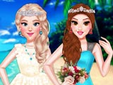 Princess Girls Wedding Trip